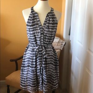 Grey and white dress